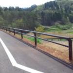 一般国道397号分限城地区道路舗装工事(トムス型ガードパイプ)